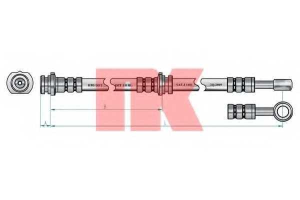 Тормозной шланг NK 852254 - изображение