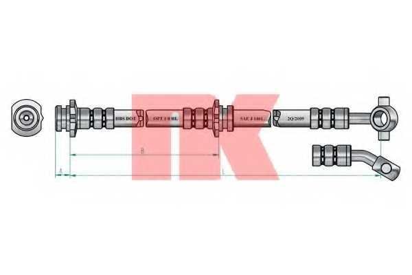 Тормозной шланг NK 852255 - изображение