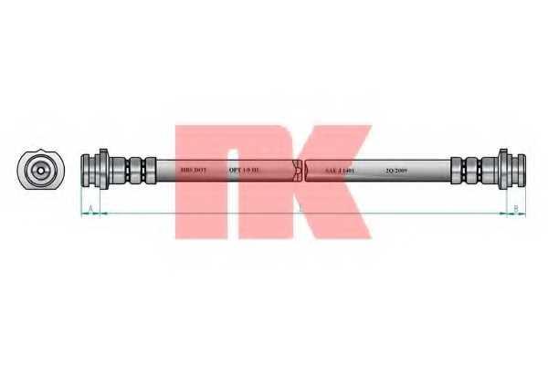 Тормозной шланг NK 852256 - изображение