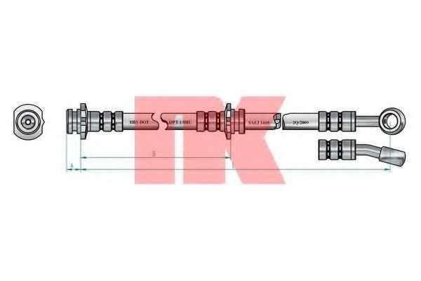 Тормозной шланг NK 852263 - изображение
