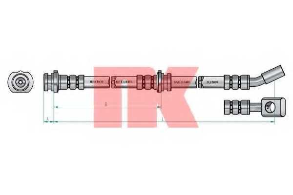 Тормозной шланг NK 852265 - изображение 1