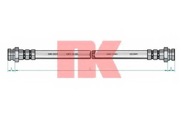 Тормозной шланг NK 8523129 - изображение