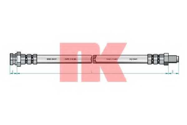 Тормозной шланг NK 852374 - изображение 1