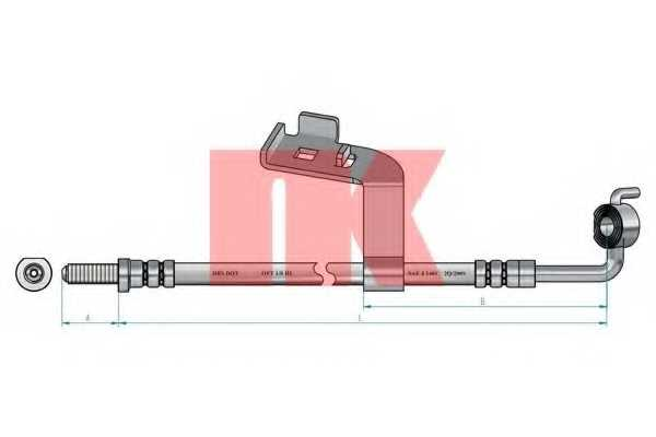 Тормозной шланг NK 8525105 - изображение 1