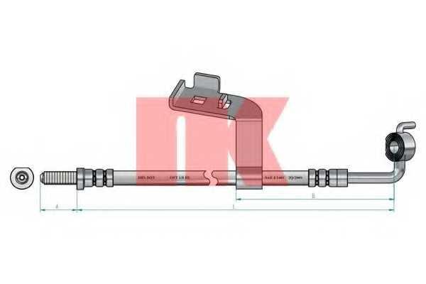 Тормозной шланг NK 8525106 - изображение