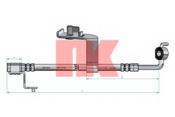Тормозной шланг NK 8525107 - изображение 1