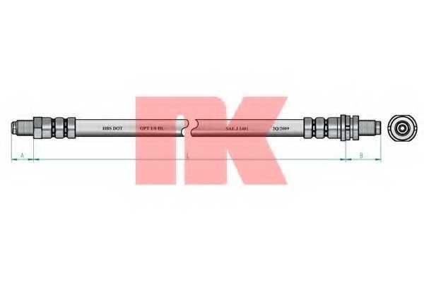 Тормозной шланг NK 8525112 - изображение 1