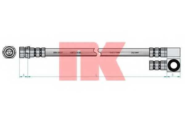 Тормозной шланг NK 8525113 - изображение 1