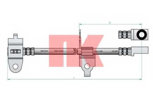 Тормозной шланг NK 8525126 - изображение