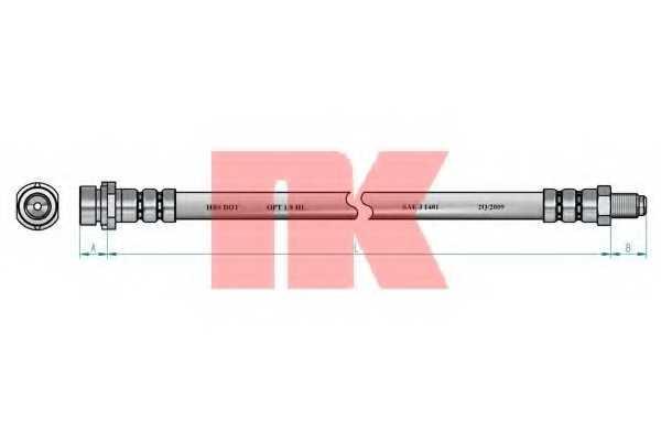 Тормозной шланг NK 8525133 - изображение 1