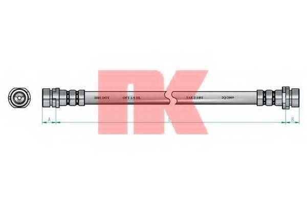 Тормозной шланг NK 8525135 - изображение 1