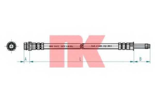 Тормозной шланг NK 8525146 - изображение
