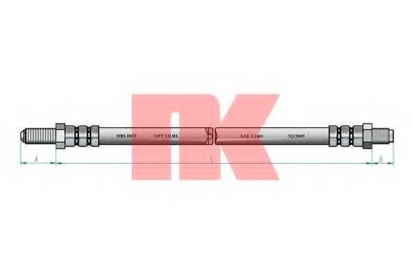 Тормозной шланг NK 852524 - изображение 1