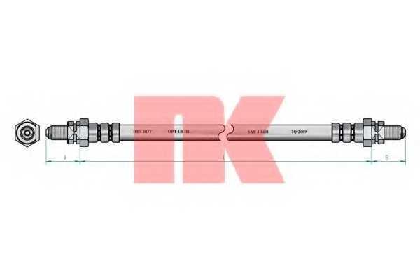 Тормозной шланг NK 852525 - изображение 1