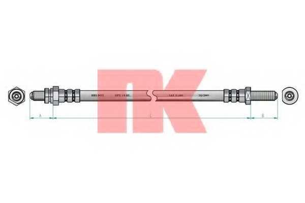 Тормозной шланг NK 852553 - изображение 1