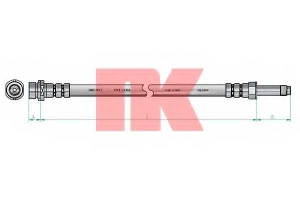 Тормозной шланг NK 852570 - изображение