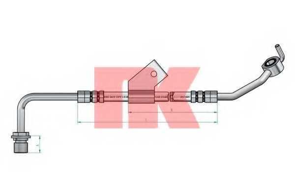 Тормозной шланг NK 852575 - изображение
