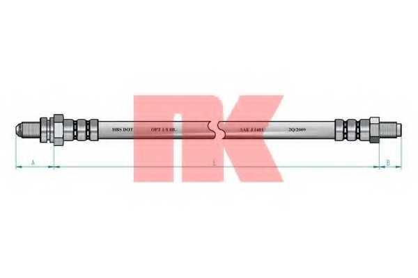 Тормозной шланг NK 852577 - изображение