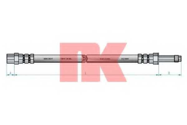 Тормозной шланг NK 852579 - изображение