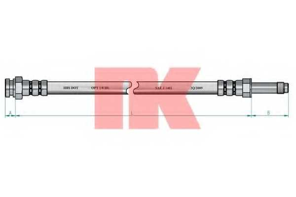 Тормозной шланг NK 852586 - изображение