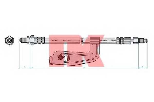 Тормозной шланг NK 852588 - изображение 1