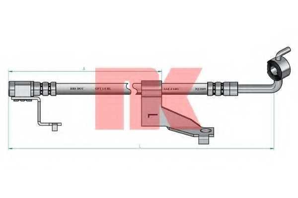 Тормозной шланг NK 852589 - изображение 1