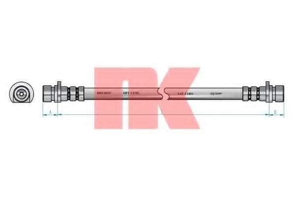 Тормозной шланг NK 852629 - изображение
