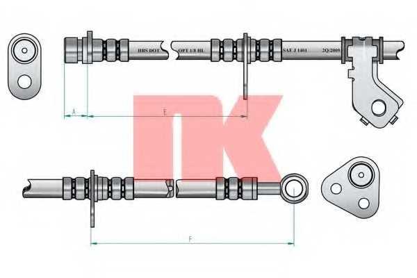 Тормозной шланг NK 852633 - изображение