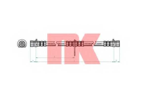 Тормозной шланг NK 852636 - изображение 1