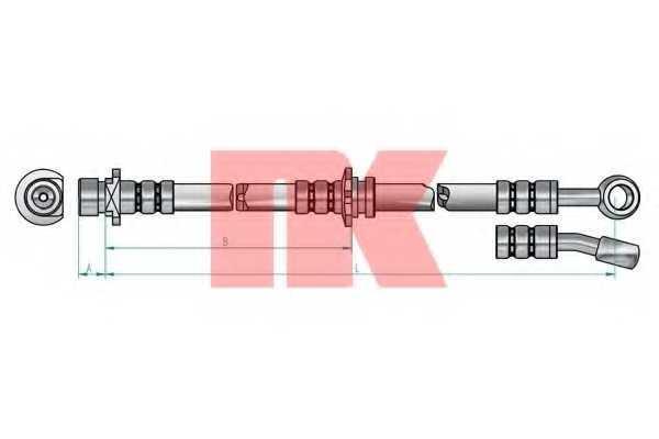 Тормозной шланг NK 852641 - изображение