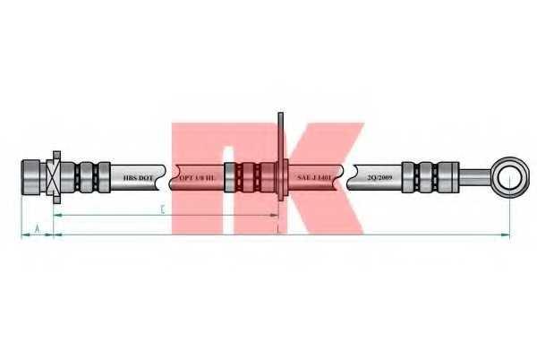 Тормозной шланг NK 852662 - изображение