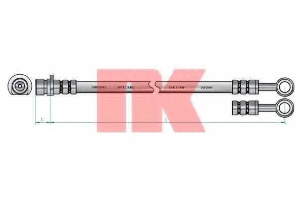 Тормозной шланг NK 852666 - изображение