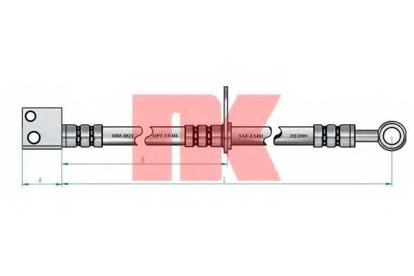 Тормозной шланг NK 852670 - изображение 1