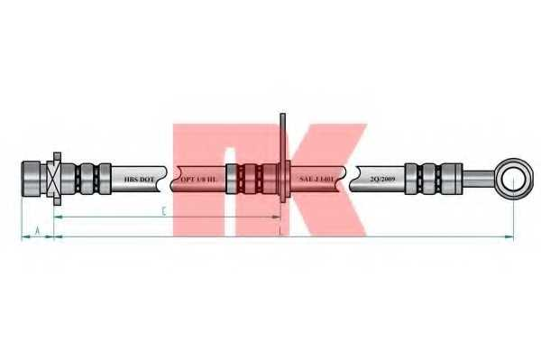 Тормозной шланг NK 852674 - изображение