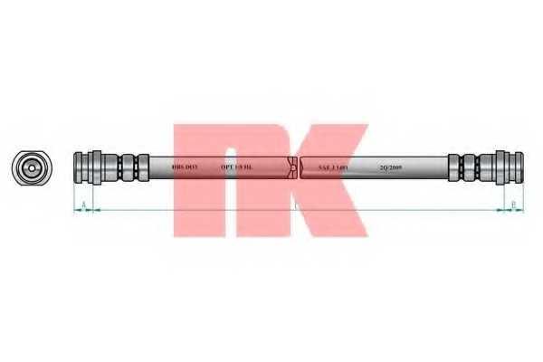Тормозной шланг NK 853004 - изображение