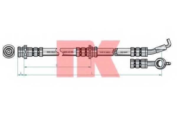 Тормозной шланг NK 853011 - изображение