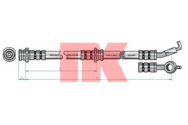 Тормозной шланг NK 853013 - изображение 1