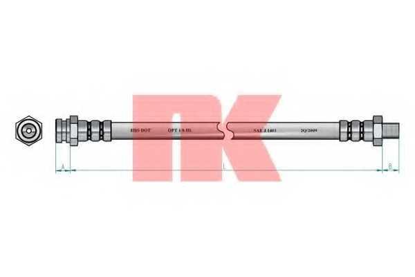 Тормозной шланг NK 853019 - изображение 1