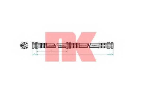 Тормозной шланг NK 853039 - изображение 1