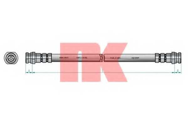 Тормозной шланг NK 853043 - изображение