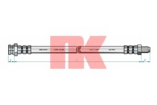 Тормозной шланг NK 853045 - изображение 1