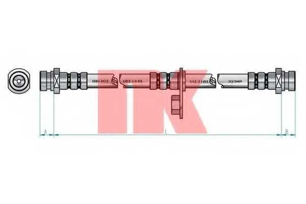 Тормозной шланг NK 853049 - изображение