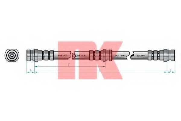 Тормозной шланг NK 853055 - изображение