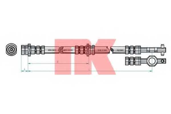 Тормозной шланг NK 853213 - изображение