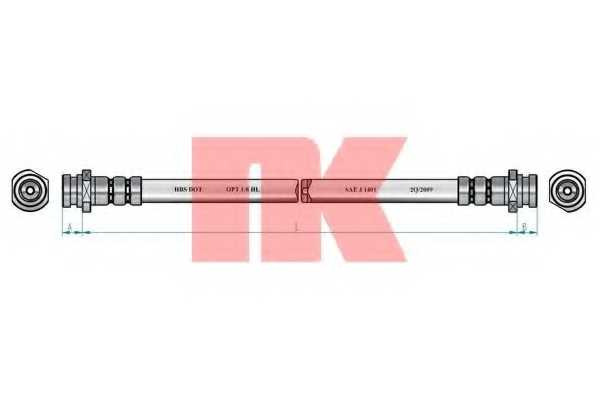 Тормозной шланг NK 853214 - изображение 1