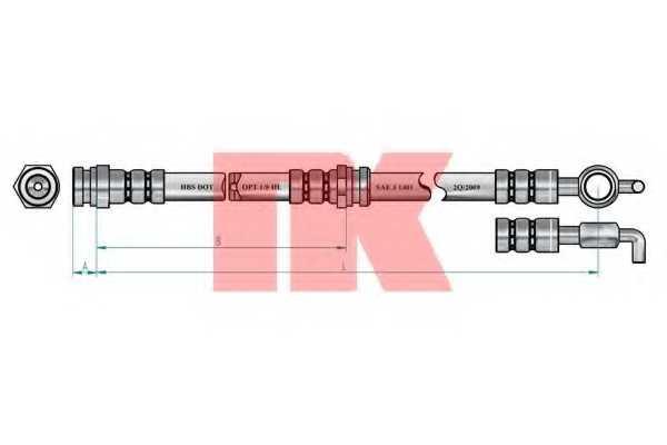 Тормозной шланг NK 853226 - изображение 1