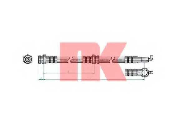 Тормозной шланг NK 853240 - изображение 1