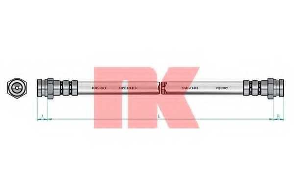 Тормозной шланг NK 853241 - изображение