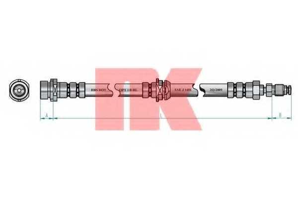 Тормозной шланг NK 853247 - изображение