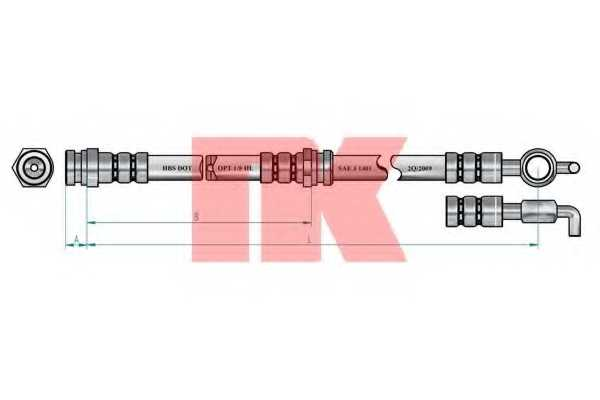 Тормозной шланг NK 853249 - изображение